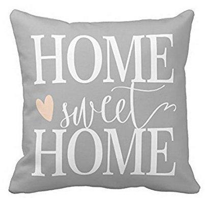 Babyssj Home Sweet Home e cuore rosa grigio federa 1818