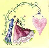 Quadratische Postkarte Nina Chen *** Liebespaar