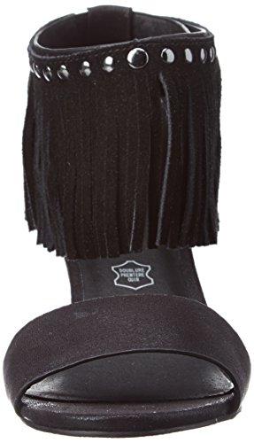 Les P'tites Bombes Nadia, Sandales Bout Ouvert Femme Noir (Noir)