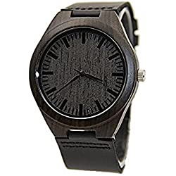 Oakmont Timepieces 'Blackout' wooden watch. 45mm Bamboo dial featuring Japanese Quartz movement. 12 Month Warranty inc.