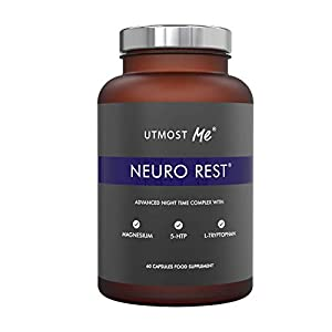 5-HTP + Magnesium + Natural Melatonin Sleeping Aid – Montmorency Cherry, Chamomile, L Tryptophan Supplement Pills | Neuro Rest Tablets by Utmost Me (TM)