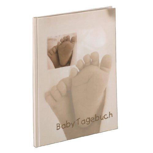 Hama Baby Tagebuch Baby Feel für Jungen und Mädchen (Album 20,5 x 28 cm, Babytagebuch mit 44 illustrierten Seiten) Sand