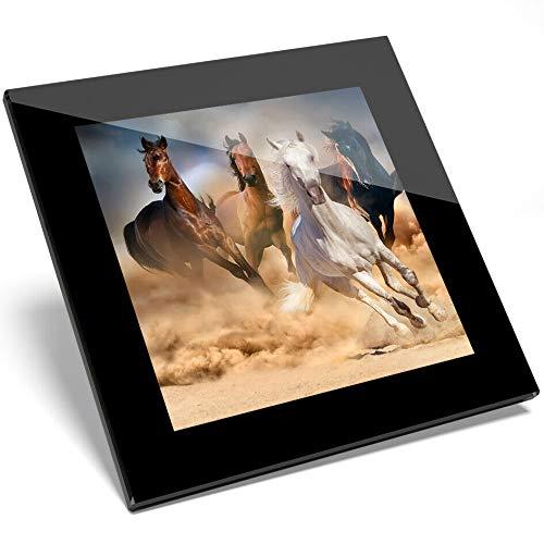 Wild Horse Mustang (#8532 Untersetzer aus Glas, Motiv: Cool Mustang Wild Horses Equine)