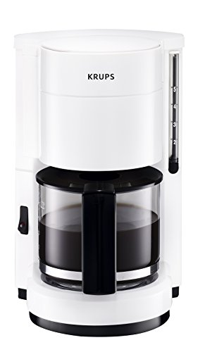 Krups F18376 Aroma Cafe 5 Glas-Kaffeemaschine, weiß