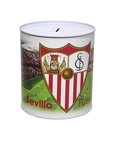 Hucha Cilíndrica 13,5X15 Cm. Sevilla FC.