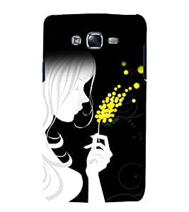 printtech Beautiful Girl Abstract Design Back Case Cover for Samsung Galaxy J7 (2016 EDITION)