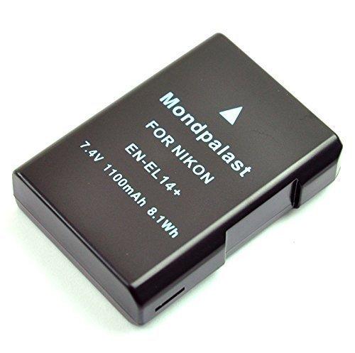 Mondpalast@ Remplacement Batterie Li-ion type EN-EL14 enel14 EN-EL14a enel14a 1100mAh avec infochip pour Nikon DSLR D5600 D3400 D5500 D5200 D5300 D3300 D3200 D5100 Df