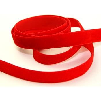 Berisfords Velvet Ribbon 16mm Black sold by the metre
