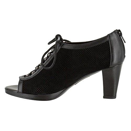 Bella Vita - Lilo donna Black Suede/Black Leather