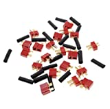 10 Pairs Ultra T Plug Connectors Deans Style For RC LiPo Battery Male and Female + Shrink Tubing (20-Pack) Set