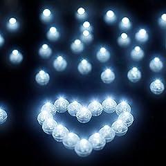 Idea Regalo - Libershine LED Palloncini Luci, Confezione da 100 palloncini rotondi con illuminazione a LED per lanterna di Natale, decorazione per festa o per palloncini, decorazioni floreali