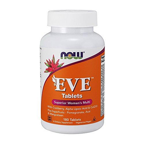 Now Foods | Eve | Superior Multivitamin für Frauen | 180  Tabletten | Vegan | Vegetarisch | ohne Gentechnik | Glutenfrei