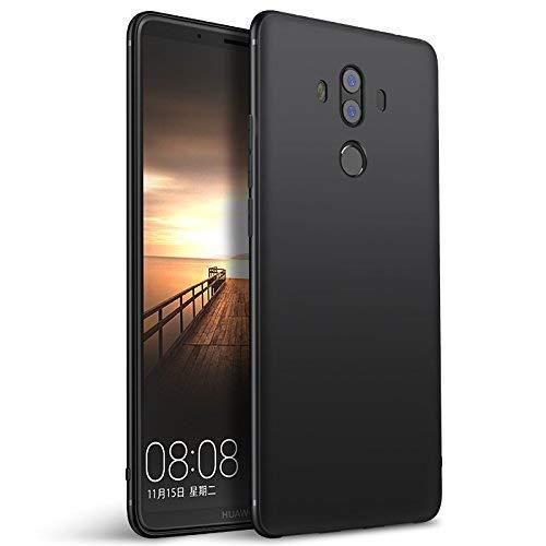 Olliwon Huawei Mate 10 Pro Hülle, Dünn Leichte Schutzhülle Schwarz Silikon TPU Bumper Case Cover für Huawei Mate 10 Pro -Schwarz