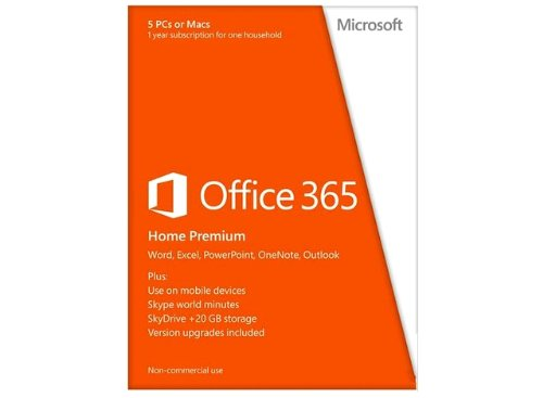 IBM Office 365 Home Premium 32-/64-Bit Medialess (1 Jahr) FI -