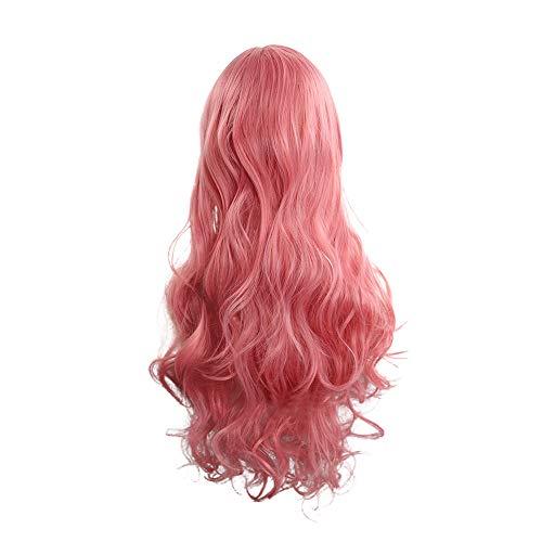 Zolimx Mode Cosplay Perücke 80cm Frauen Hitzebeständige Haare Blonde Lange Lockige Volle Perücken