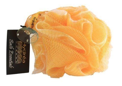 Esponja exfoliante de malla de nylon para el cuerpo/ Puff de baño/ color amaril...