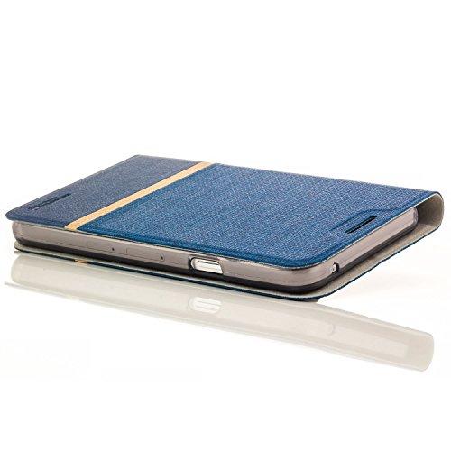 zanasta Tasche kompatibel mit Lenovo Moto Z Play Hülle Flip Case Schutzhülle Handytasche mit Kartenfach Blau