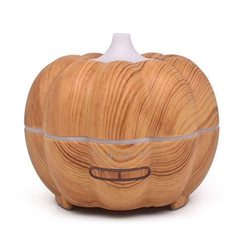 (Aromazerstäuber Halloween-Kürbis-Form-Luftbefeuchter, 350 ML ätherisches Öl Diffusor elektrischer Ultraschall-Luftbefeuchter Aromatherapie-kühler Nebel-Luftbefeuchter, 7 Farb-LED-Lichter und Timer-Ein)