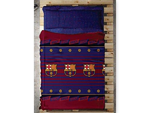 Tejidos Reina Juego de Sábanas Balón FC Barcelona (Cama 90cm)