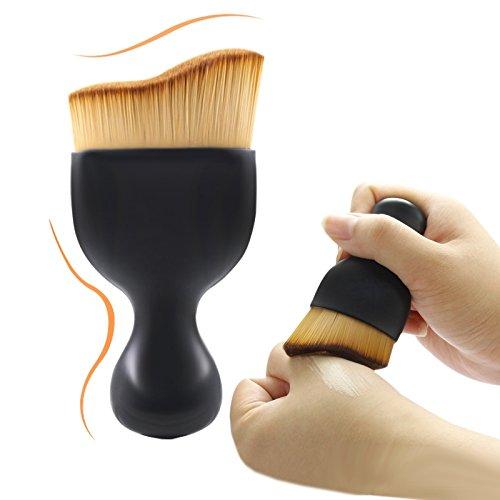 Ulable Poignée de bouteille de vin Wave Style de cheveux Brosse de Maquillage Professionnel Fond de teint Fard à joues