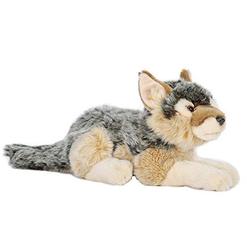 Uni-Toys Vari Peluche, animaletti di pezza, pupazzetti da Amare ca. 25-35 cm (Lupo, Nero-Marrone Chiaro)