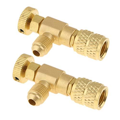 Baoblaze 2x Kupfer Sicherheitsventil Überdruckventil Gasventil Gasregler Luftkompressor Zubehör -
