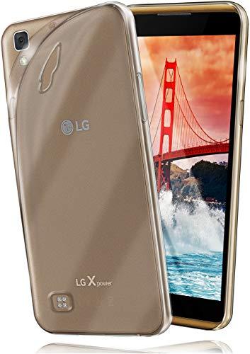 moex LG X Power   Hülle Silikon Transparent Klar Clear Back-Cover TPU Schutzhülle Dünn Handyhülle für LG X Power Case Ultra-Slim Silikonhülle Rückseite