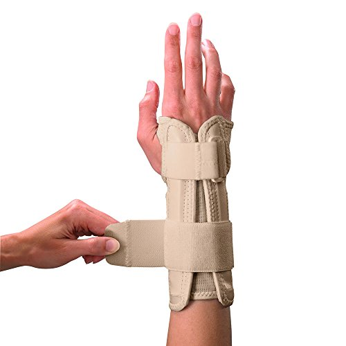 Mueller Wrist Stabiliser - Wrist Support Splint, Wrist Brace, Aid, Two Adjustable Straps, Lightweight, Helps for Carpal Tunnel Syndrome, Full Movement, Joint, Breathable Fabric, Extra Padding