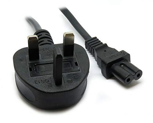 Pro-Elec 13301pl 3 m Figure of 8 Mains Cable/Power UK Lead IEC C7 Plug Cord  - Black