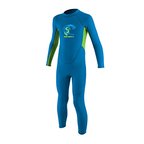 O';Neill Toddler Kids Youth Kinder Junior Reactor 2MM Neoprenanzug mit Reißverschluss Brite Blue Dayglo - Unisex - 100% Fluidflex