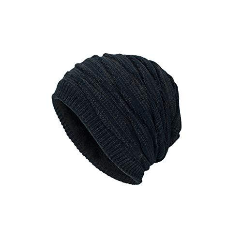 Nosterappou Chapeaux de Plein air pour Hommes et Femmes épais et Chauds et agréables à Porter, Bonnet épais en Tricot Chaud (Couleur : Marine)