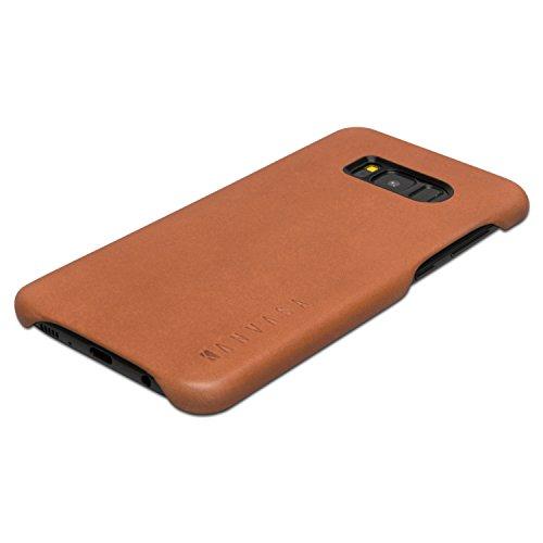 iPhone 8 Plus Cover / iPhone 7 Plus Cover in Pelle Nera - KANVASA Skin Case Custodia Ultrasottile per Apple iPhone 8 Plus & 7 Plus (5,5) - Borsetta di Lusso in Vera Pelle - Cuoio Premium Marrone Galaxy S8 Plus