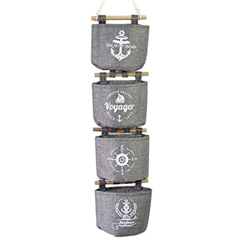 URIJK Hängetasche Tür Wand Taschen Multifunktion Wasserdicht Handtasche Aufbewahrungstasche für Badezimmer Küche(4 Stück)