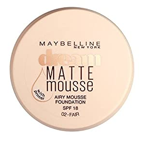 Maybelline Dream Matte Mousse Foundation, Number 002, Fair