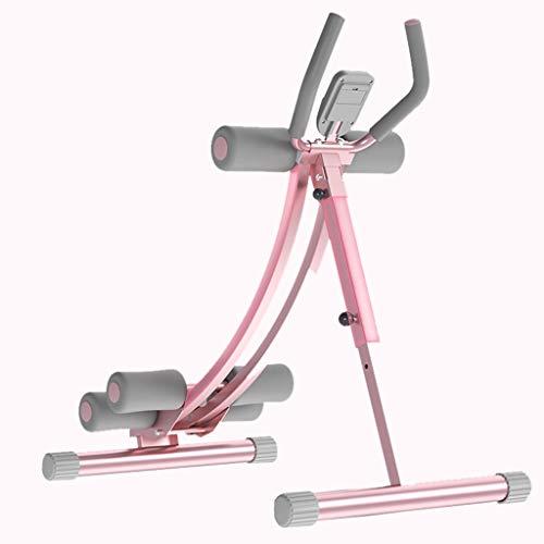 Hantelbänke Multifunktions Rosa Bauch-Fitnessgerät für Damen Gewichtsverluststuhl für Damen Krafttrainingsstuhl für Zuhause Dünnes Hüfttopfrohr Outdoor-Sportgeräte