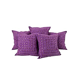 Deko Gestreift Baumwolle Pillow Cover Wohnzimmer Lila Indisch Spitze Pillow  Case Traditional 40x40 Kissenbezüge Set 5