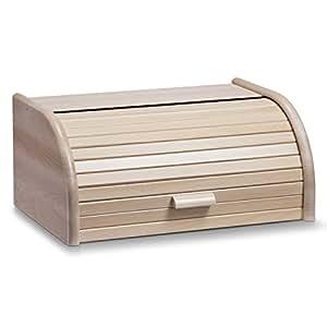 Zeller 20463 Boîte à pain en hêtre Grand format 40 x 28 x 18 cm