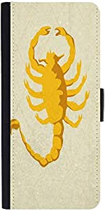 Snoogg Scorpion Yellow 2785 Designer Protective Flip Case Cover For Samsung G...