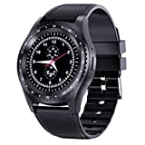 LOEROY Bluetooth Smart Watch, Fitness Uhr Intelligente Armbanduhr Fitness Tracker Smart Watch Sport, 1.22-Zoll Touchscreen Smartwatch, Kameras, GMS-Karte, Kameras,Black