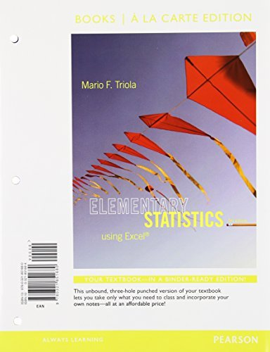 Elementary Statistics Using Excel, Books a la Carte Edition Plus NEW MyStatLab with Pearson eText -- Access Card Package (5th Edition) by Mario F. Triola (2013-03-22)