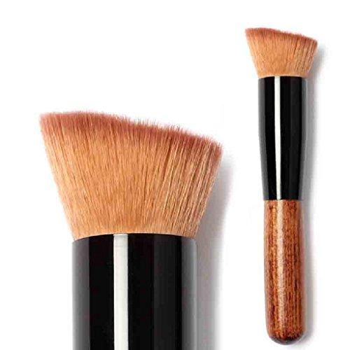 feiXIANG make - up brush für Frauen erröten brush puder brush Foundation Pinsel Neu Weich Make-up Pinsel stiftung kosmetische pinsel Große fächerförmige Ladies Rouge pinsel (Khaki) - Stiftung Tasche