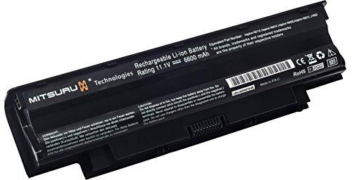 Mitsuru® 6600mAh Notebook Laptop Akku Batterie für Dell Inspiron 13r 14r 15r 17r N3010 N3110 N4010 N4050 N4110 N5110 N5010 N5030 N5040 N5050 N7010 N7110 M5110 M5010 M4110 M501 M503 M5030 M411r M511r Series, Vostro 1440 1450 1540 1550 3450 3550 3750