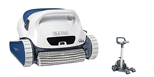 Dolphin BLUE Maxi 35 - Robot automático limpiafondos para piscinas (fondo y paredes) sistema de navegación preciso Clever clean. INCLUYE CARRO DE TRANSPORTE