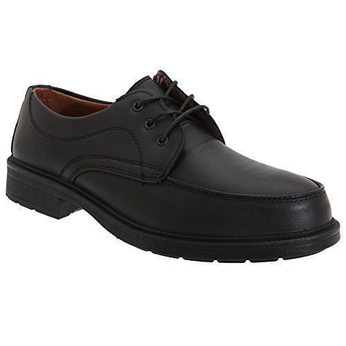 grafters-mens-managers-mudguard-tie-coated-leather-safety-shoes-42-eur-black