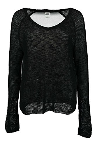 Vero Moda Vmrozanna Ls Blouse - Pull - Manches longues - Femme Noir