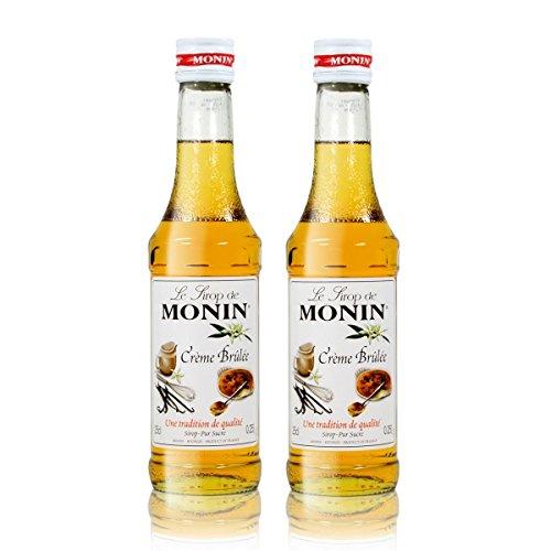 2x Monin Créme Brûlée Sirup, 250 ml Flasche - für Cocktails, zum Kaffee oder Kochen