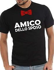 Idea Regalo - Wixsoo T-Shirt Maglietta Addio al Celibato Amico Sposo Limited Edition (XXL, Nero)