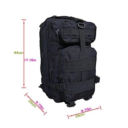 DIXIUZA Militär taktische Rucksack Small Rucksäcke Wandern Tasche Outdoor Trekking Camping Tactical Tour Men Taktik Kampf Travel Tasche Schwarz