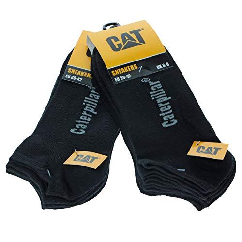 Caterpillar 6 paires de chaussettes pour hommes Sneaker Cat en cheville souple en coton