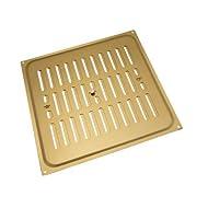 Aluminium gold Glücksache Louvre ventilation Deckel 9 x 9 Zoll (1er-Pack)